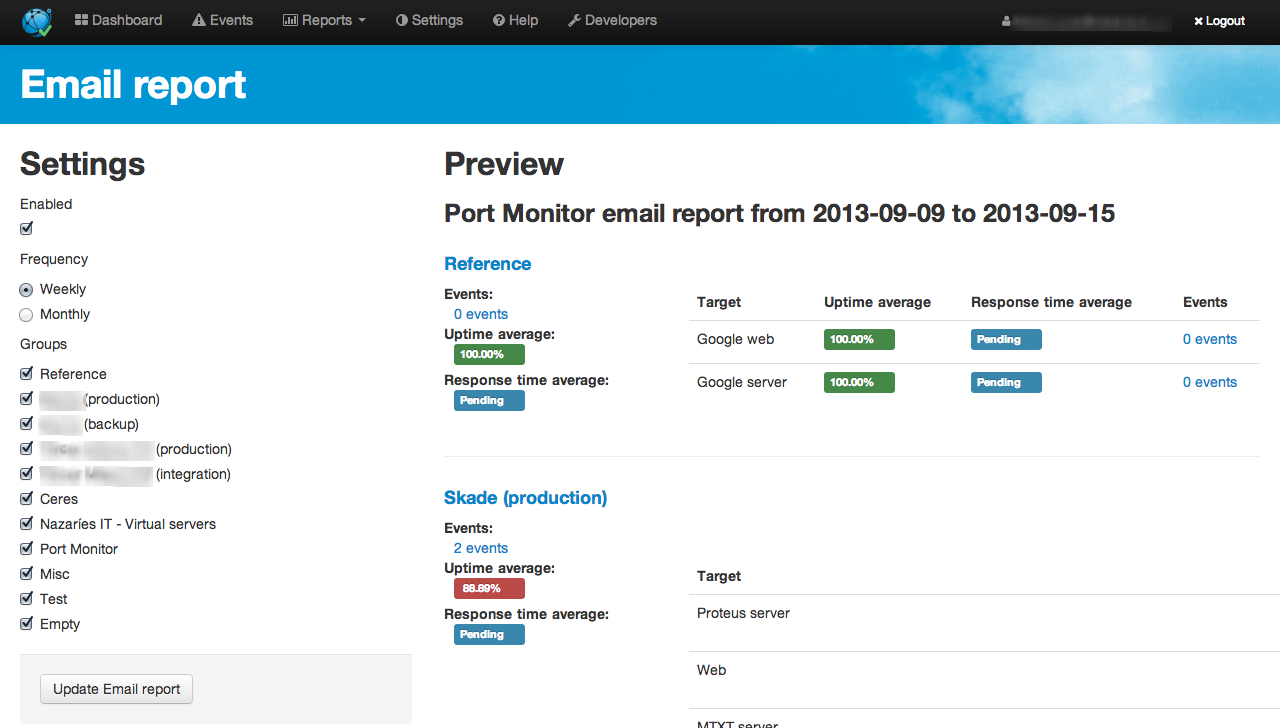 Port Monitor - Website and server monitoring made simple!